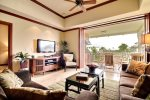 Kolea 15J - Living Area with Lanai Views